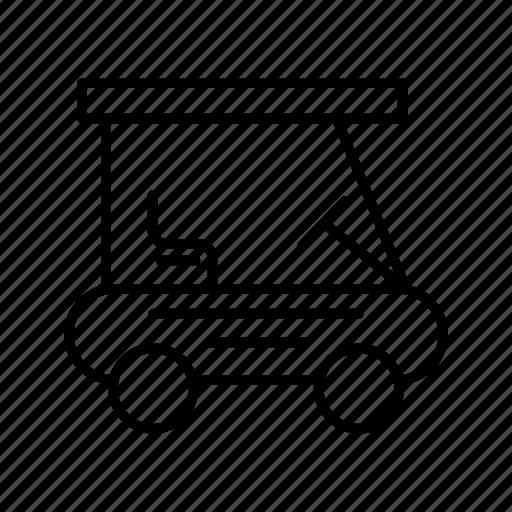 caddy, golf, golf buggie, minicab, transport, vehicle icon
