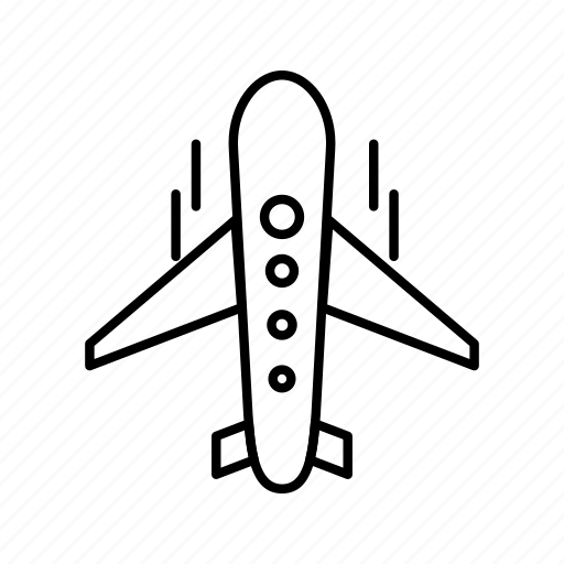 aeroplane, air, air bus, fly, plane, travel icon