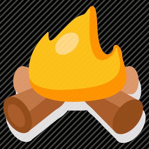 bonfire, camp, campfire, fire, forest, outdoor, primitive icon