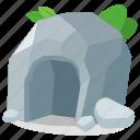 stone, prehistoric, age, cave, entrance, primitive, caveman