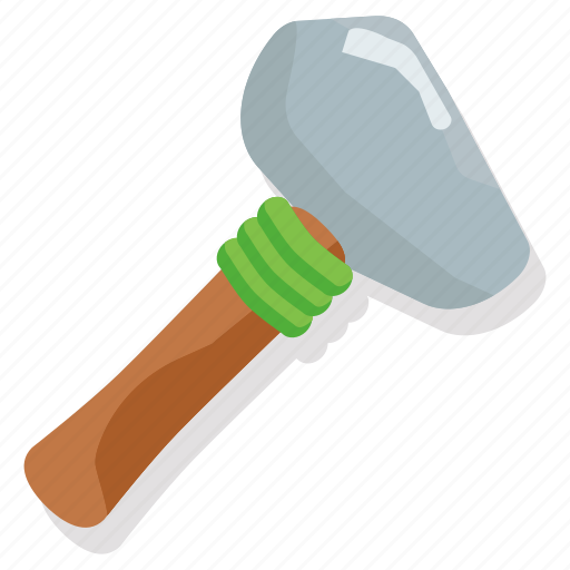 caveman, flint, hammer, prehistoric, stone, tribal, weapon icon