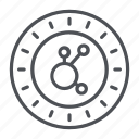 bitconnect, coin, crypto, crypto currency, line, thin, thin line icon