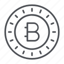 bytecoin, coin, crypto, crypto currency, line, thin, thin line icon