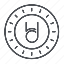 bitdeal, coin, crypto, crypto currency, line, thin, thin line icon