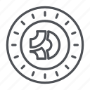 bitcoindark, coin, crypto, crypto currency, line, thin, thin line icon