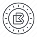 bitbay, coin, crypto, crypto currency, line, thin, thin line icon