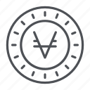 coin, crypto, crypto currency, line, thin, thin line, viacoin icon