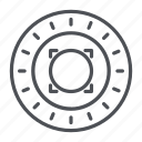 coin, crypto, crypto currency, line, omni, thin, thin line icon