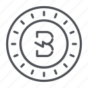 burst, coin, crypto, crypto currency, line, thin, thin line icon