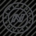 crypto, crypto currency, line, nav, nav coin, thin, thin line icon