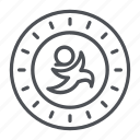 coin, crypto, crypto currency, golos, line, thin, thin line icon