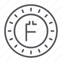 coin, crypto, crypto currency, firstcoin, line, thin, thin line icon