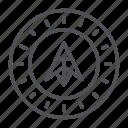 coin, crypto, crypto currency, dubaicoin, line, thin, thin line icon