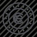 coin, crypto, crypto currency, earthcoin, line, thin, thin line icon