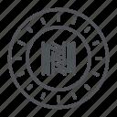coin, crypto, crypto currency, line, neoscoin, thin, thin line icon