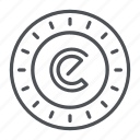 coin, crypto, crypto currency, energycoin, line, thin, thin line icon