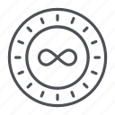 coin, crypto, crypto currency, infinitecoin, line, thin, thin line icon