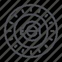 coin, crypto, crypto currency, e-coin, line, thin, thin line icon