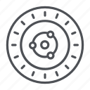 coin, crypto, crypto currency, ion, line, thin, thin line icon