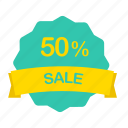 label, percent, sale icon
