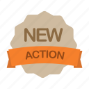 action, label, new, plan icon