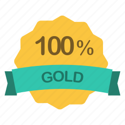 gold, label, percent icon