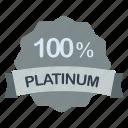 guarantee, label, percent, platinum