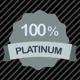 guarantee, label, percent, platinum icon