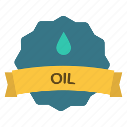 label, oil icon