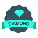 diamond, guarantee, label, skill icon