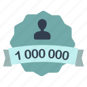count, label, million, user icon