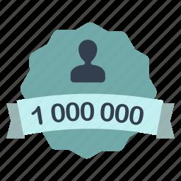 count, label, million, user icon