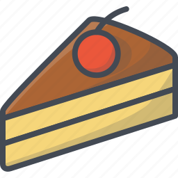 bakery, food, pie, slice, sweets icon