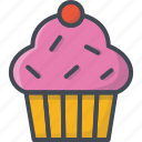 bakery, cupcake, food, sweets icon