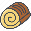 bakery, food, roll, sweets icon