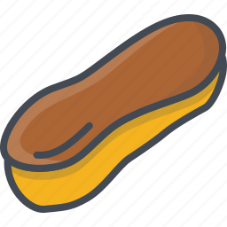 bakery, eclair, food, sweets icon