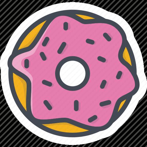 bakery, doughnut, food, sticker, sweets icon