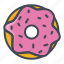 bakery, doughnut, food, sticker, sweets icon