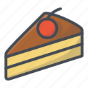 bakery, food, pie, slice, sticker, sweets icon
