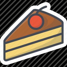 bakery, food, pie, slice, sticker, sweets icon