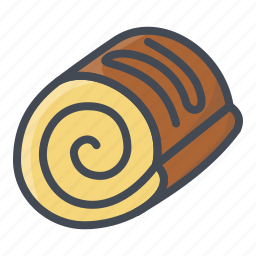 bakery, food, roll, sticker, sweets icon