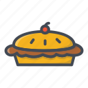 bakery, food, pie, sticker, sweets icon