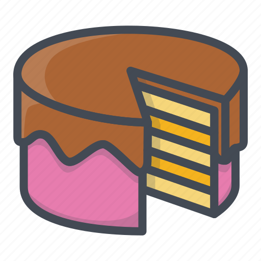 bakery, cake, food, sticker, sweets icon