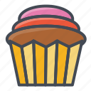 bakery, cupcake, food, sticker, sweets icon