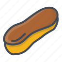 bakery, eclair, food, sticker, sweets icon