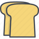 breakfast, breat, food, toast icon