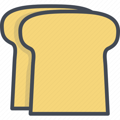 breakfast, breat, food, toast icon