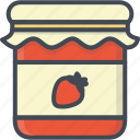 breakfast, food, jam, jar icon