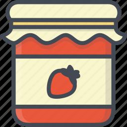 breakfast, food, jam, jar icon