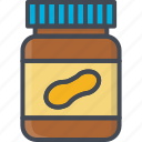 breakfast, food, jar, peanutbutter icon